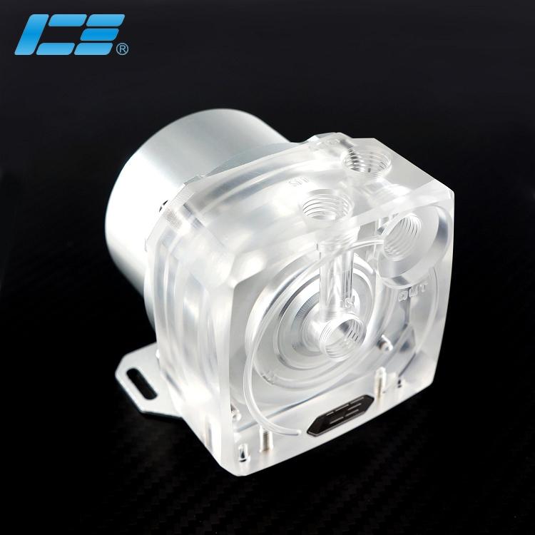 ICE-D5 高性能D5水泵上盖 - 透明版+盔甲套装