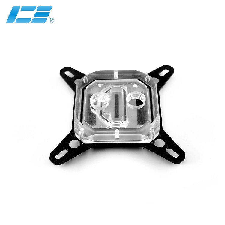 ICE-TZ CPU喷射水冷头-透明版
