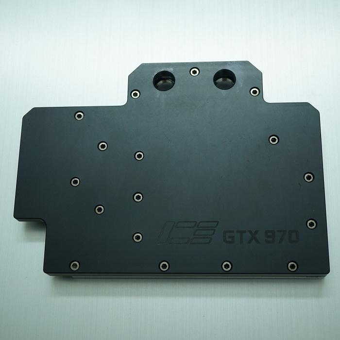 GTX970公版显卡全覆盖一体水冷头,兼容GTX670 ---POM酷黑版
