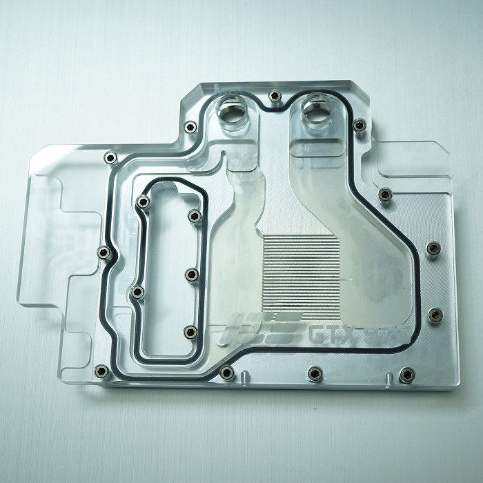 GTX970公版显卡全覆盖一体水冷头,兼容GTX670 ---透明版