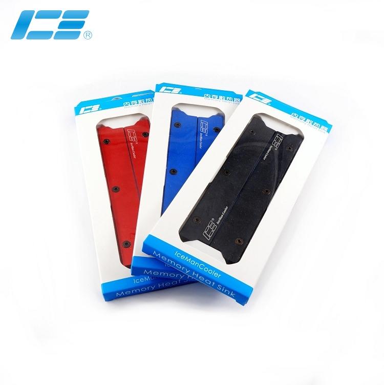 ICE-MS 内存水冷散热片 - 窄版 黑色  二条套装